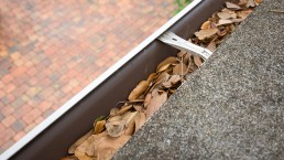 Rain Gutters Needing Property Mantainance